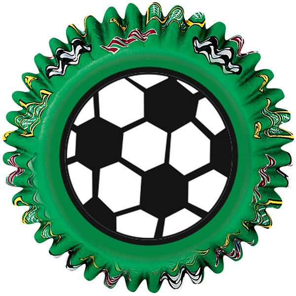 Wilton | Soccer Cupcake Papers | Soccer and SportsThemed Party Supplies available at www.buildabirthday.co.nz