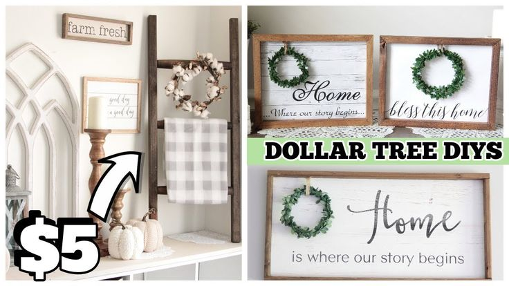 DOLLAR TREE DIY POTTERY BARN DUPES FARMHOUSE DECOR…