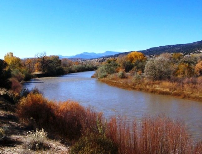 Rio Grande River at Los Luceros, New Mexico | Top 5 Eco-Friendly Tourist Attractions in New Mexico www.greenglobaltravel.com