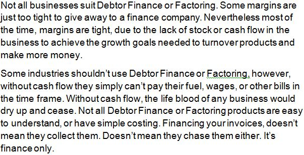 Factoring, Invoice Discounting and Debtor Finance: Small Businesses Need Help With Cash Flow – Factor...