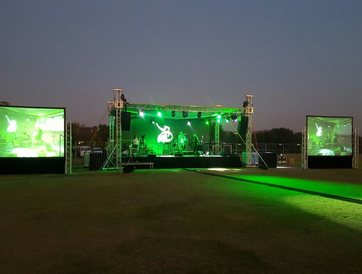 Concert powered by Urban Entertainment. #concert #Staging #screens #projectors #livevideofeed #video #bands #djs #music #greenlighting #lighting #sound #AV #entertainment #urbanentertainment