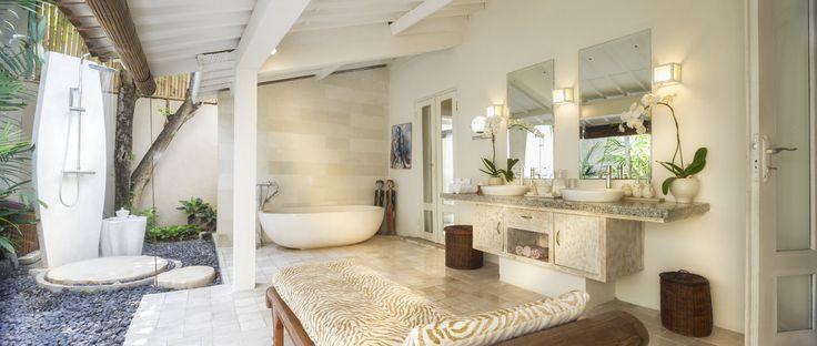 Villa 15 bathroom at Villa Kubu, Seminyak, Bali