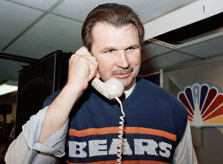 Chicago Bear head coach Mike Ditka