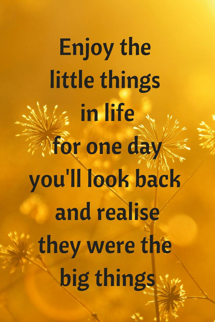 Monday Motivation - enjoy the little things