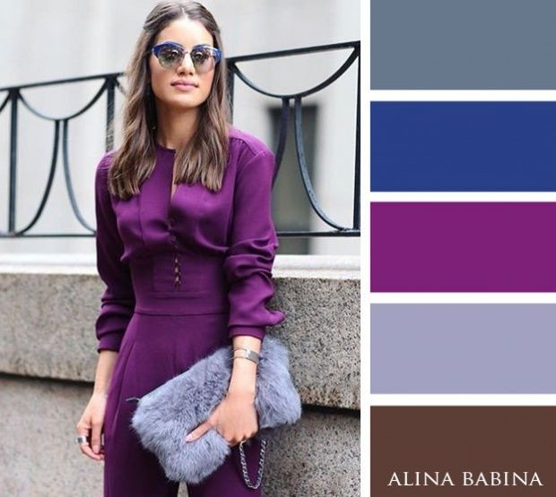 Purple, grey and lavender  warm colour combinations for your autumn wardrobe