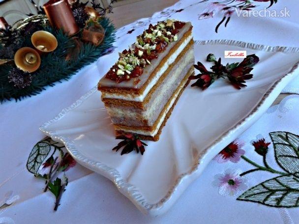 Karamelové rezy s krupicovým krémom (fotorecept) - Recept