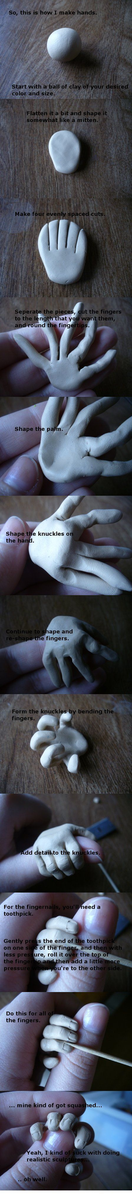 Hand Polymer Clay Tutorial by ~paperfaceparade on deviantART