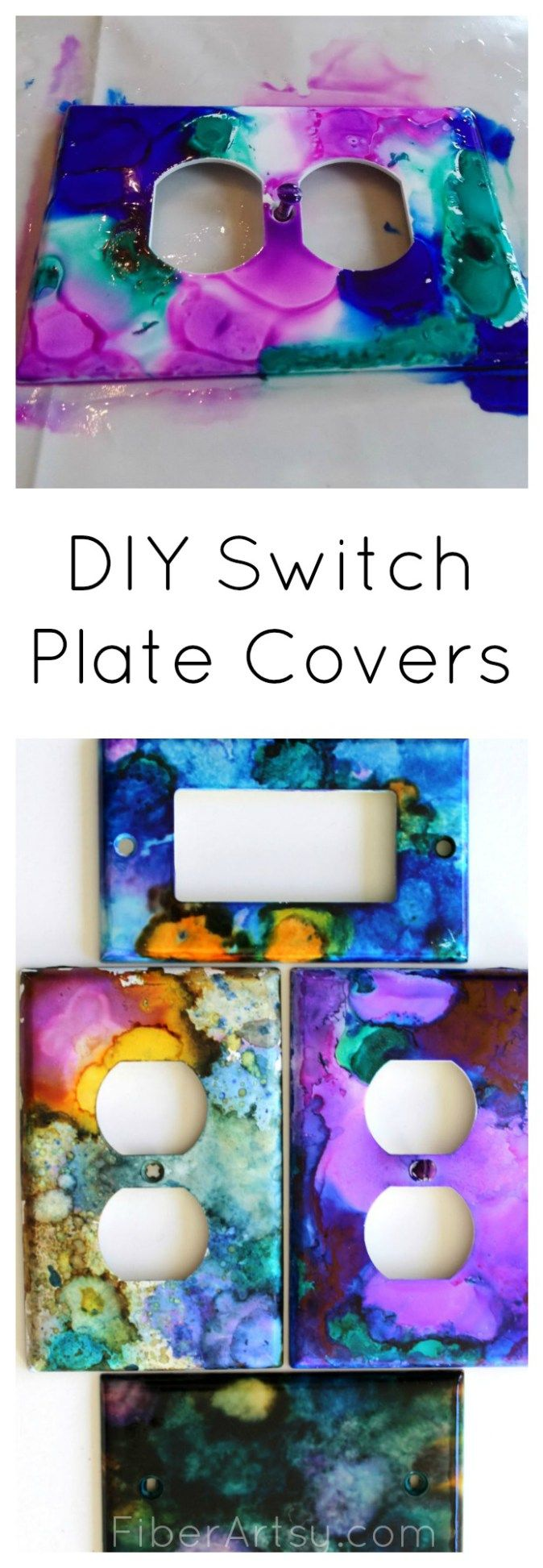 Arts and crafts switch plate covers - Diy Switch Plate Covers Fiberartsy Com Long Collage