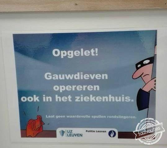 Doe mij maar liever een chirurg. #woordgrap  (Met dank aan Cécile van der Borght!)