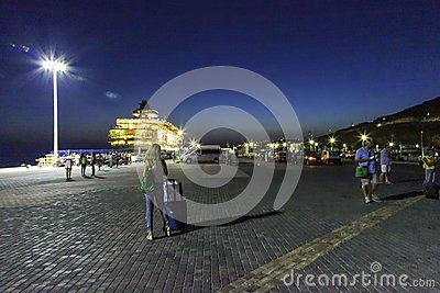 Mykonos Harbour By Night - Download From Over 60 Million High Quality Stock Photos, Images, Vectors. Sign up for FREE today. Image: 92889770