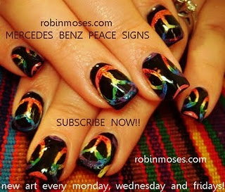 rainbow mercedes/peace signs by robin moses.