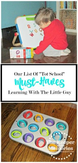 "Check out this list of ""Tot School"" must-haves from one creative mama and her little guy. These are their absolute favorites. Lots of awesome stuff for little kids on this list!"
