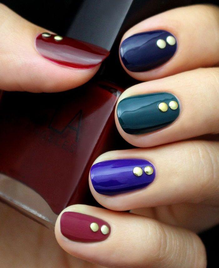 Fabulous Jewel Tone Nail Art
