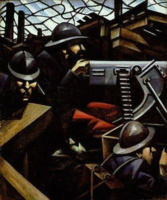 Machine-gun, 1915 by C.R.W. Nevinson. I licensed this from the Tate Gallery in London for my band Bobot Adrenaline's debut album.