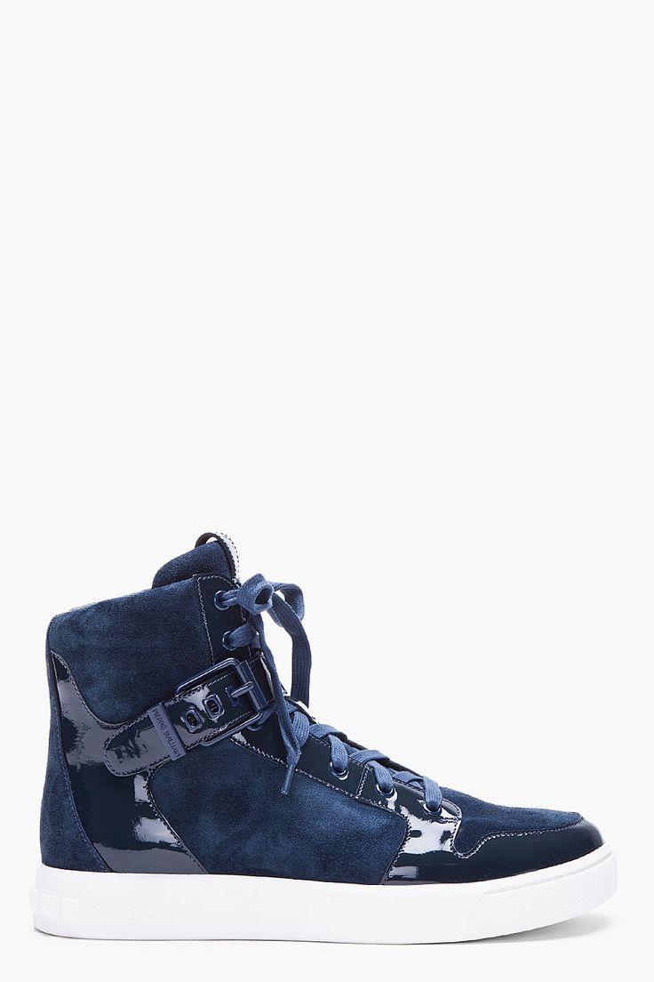 Mens Pierre Balmain Metallic Panel Sneakers Black FZR49071
