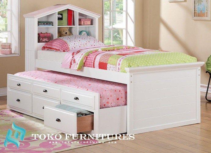 harga tempat tidur anak model minimalis laci sorong