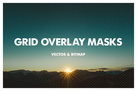 Grid Overlay Masks - Vector & Bitmap by Offset on Creative Market
