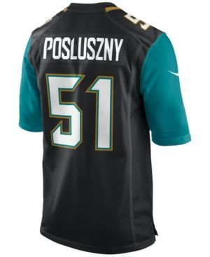 Nike Men's Paul Posluszny Jacksonville Jaguars Game Jersey - Black XXL