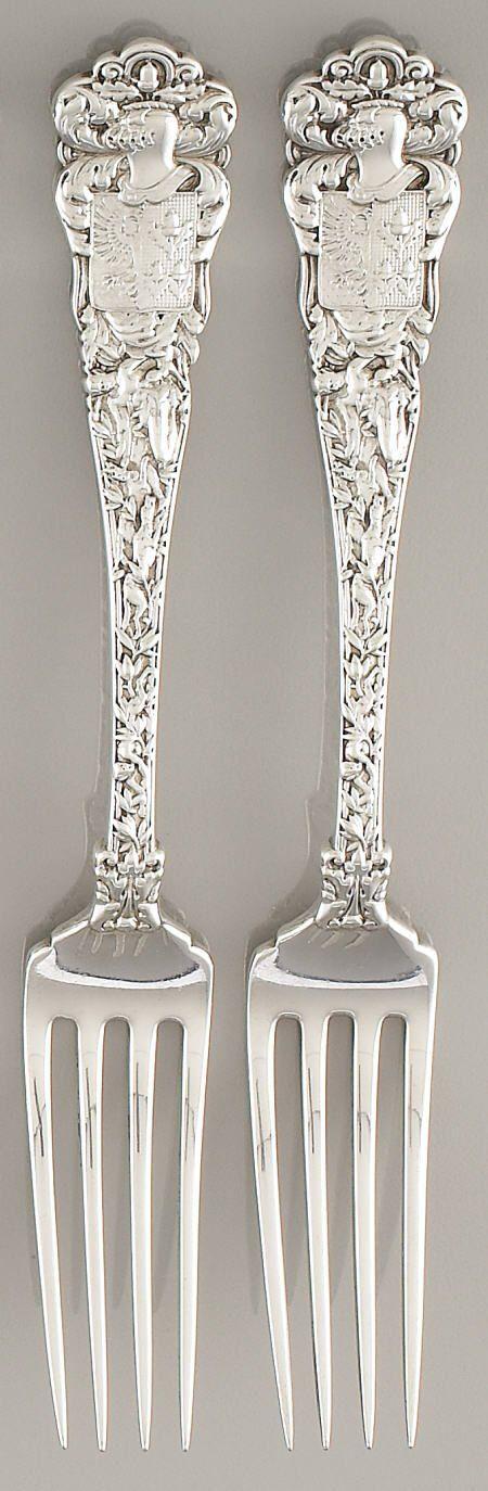 Examples of the William K. Vanderbilt Sterling Service custom designed by Tiffany & Co.