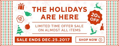 Holiday season sale 2017 !   SAVE 20% ! Almost all the items from Nov 1st... read more