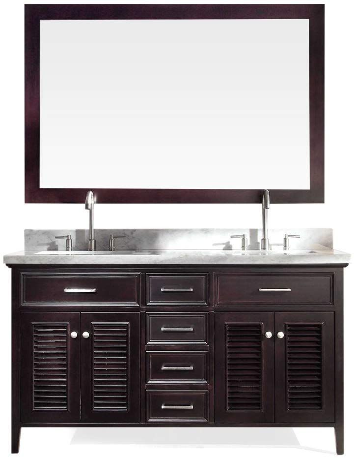 Ariel D061d Esp Kensington 61 Double Sink Bathroom Vanity Set In