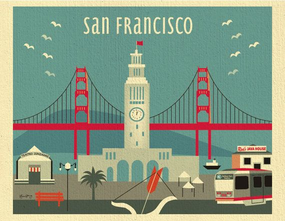 ARTIST INSPIRATION:  This is a scene of San Francisco that features the Ferry Building.  MATERIAL DESCRIPTION: Our unique 80 lb. organic heavy cream