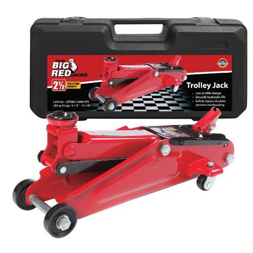 Torin Big Red Hydraulic Trolley Floor Jack With Carrying Case 2 5 Ton Capacity For Sale Floor Jack Best Riding Lawn Mower Jack Stands