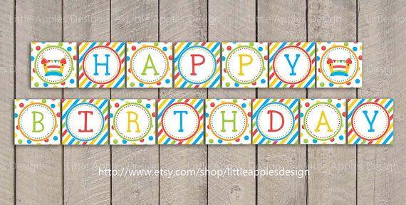 Bounce House Birthday Banner / Bounce House by LittleApplesDesign, $5.00