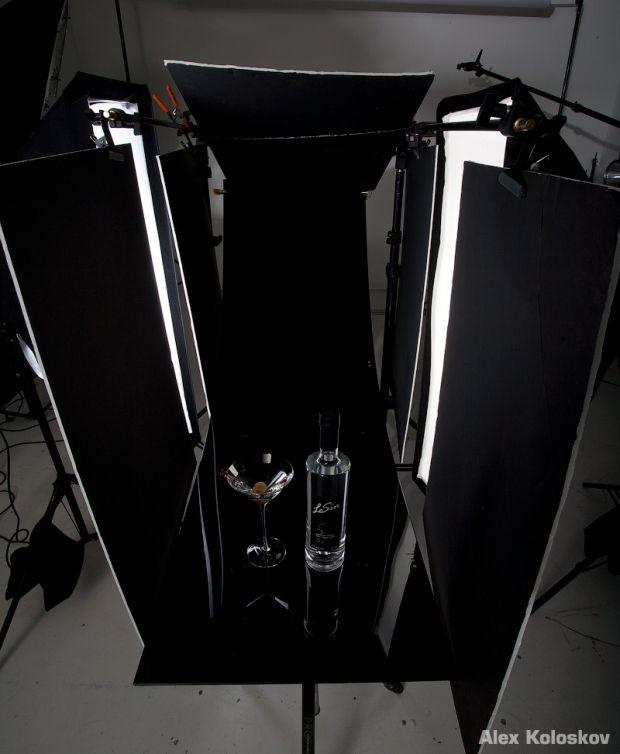 GLASSWARE   Shooting glassware on black background.