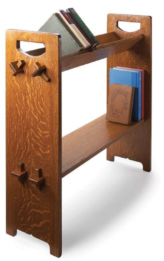25 best ideas about book racks on pinterest kid book for Craftsman furniture plans