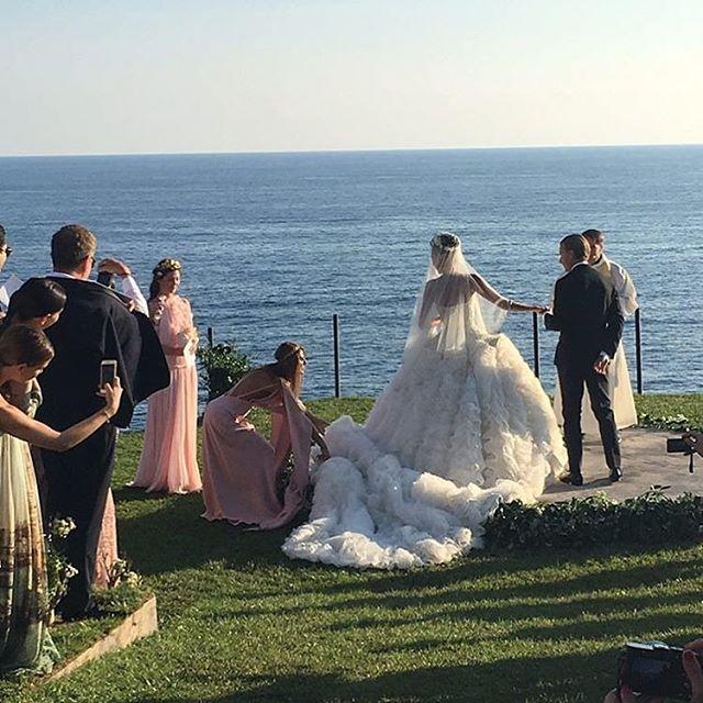 Giovanna Battaglia Wedding | Alexander McQueen Dress