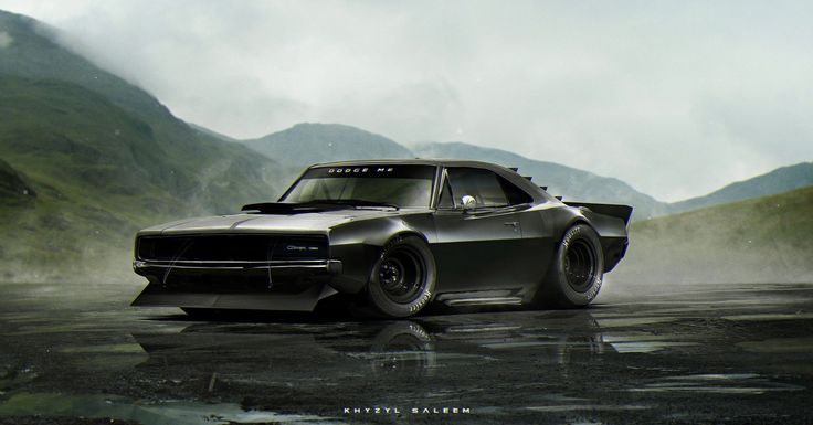 Dodge Me by Khyzyl Saleem. (via ArtStation - Dodge Me, Khyzyl Saleem)  More cars here.