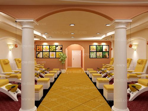 Nail salon designs floor plan salon design by spa mall flickr photo sharing spa decor - Plan 3d salon ...