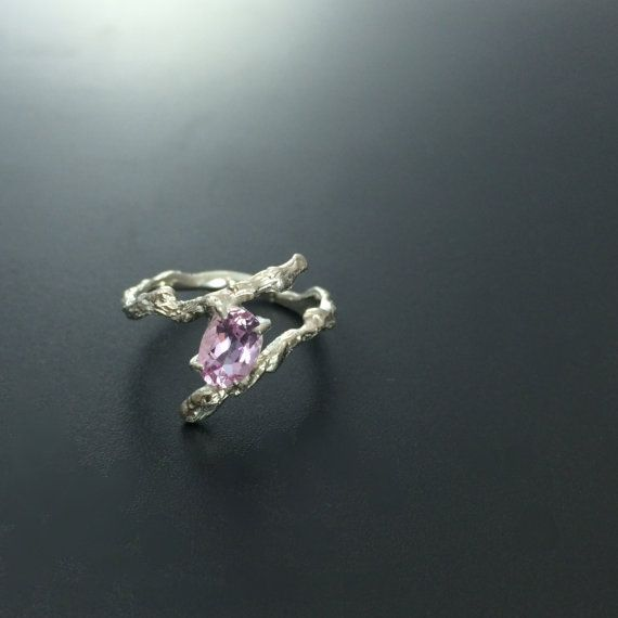 Now THIS is an unconventional engagement ring. This kunzite ring is also less than $200.