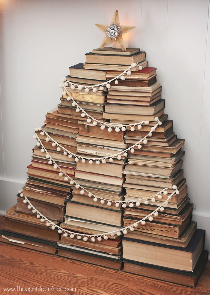 122 best Book Christmas Trees images on Pinterest | Book christmas ...