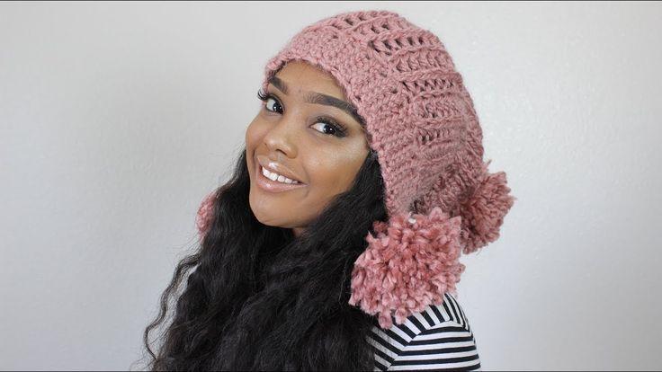 Double Pom Pom Ribbed Crochet Winter Hat