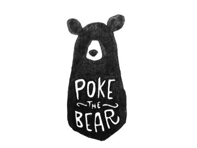 I like the quirkiness and whimsical feel of this bear. Maybe for a button on the sidebar? Do different whimsical characters for click buttons to Facebook, contact? Etc?