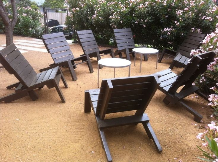 Wood Pallet Lounge Chairs