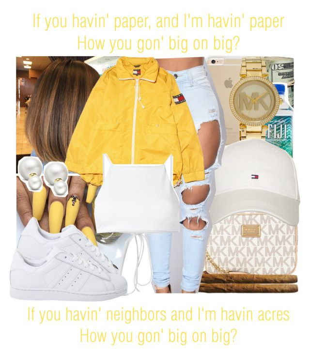 """""""Big on Big x Migos"""" by juicyums ❤ liked on Polyvore featuring Michael Kors, Tommy Hilfiger, adidas Originals, Ack and Allurez"""