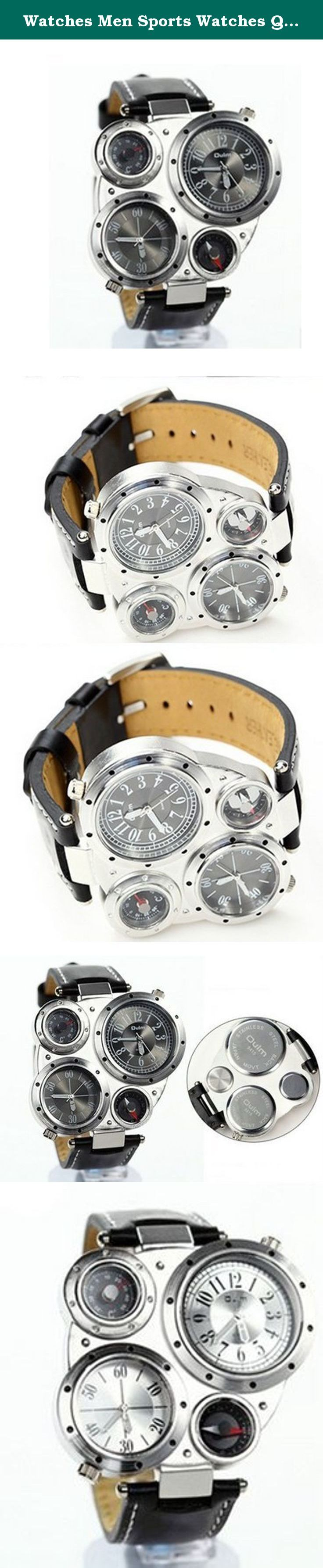 Watches Men Sports Watches Quartz Watch Compass Thermometer Leather Strap Wristwatches Climbing Multiple Time Zone. Item specifics. Item Type: Wristwatches is_customized: Yes Dial Window Material Type: Hardlex Case Material: Alloy Dial Material Type: Alloy Water Resistance Depth: 3 m Movement: Quartz Band With: 20mm to 29mm Dial Diameter: 1.8 cm Band Width: 22mm Clasp Type: Buckle Style: Fashion & Casual Gender: Men Condition: New without tags Dial Display: Analog Feature: Water...