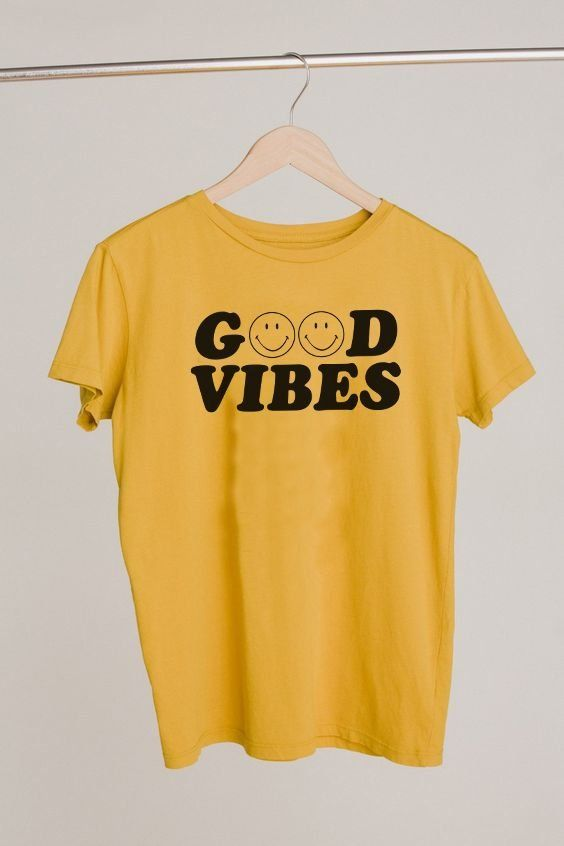 d27ab18cd Good vibes only smiley face yellow graphic t-shirt #graphictee #goodvibes  #smileyface