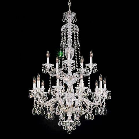 "Schonbek Sterling 32"" Wide Large Crystal Chandelier - #64619 | Lamps Plus"