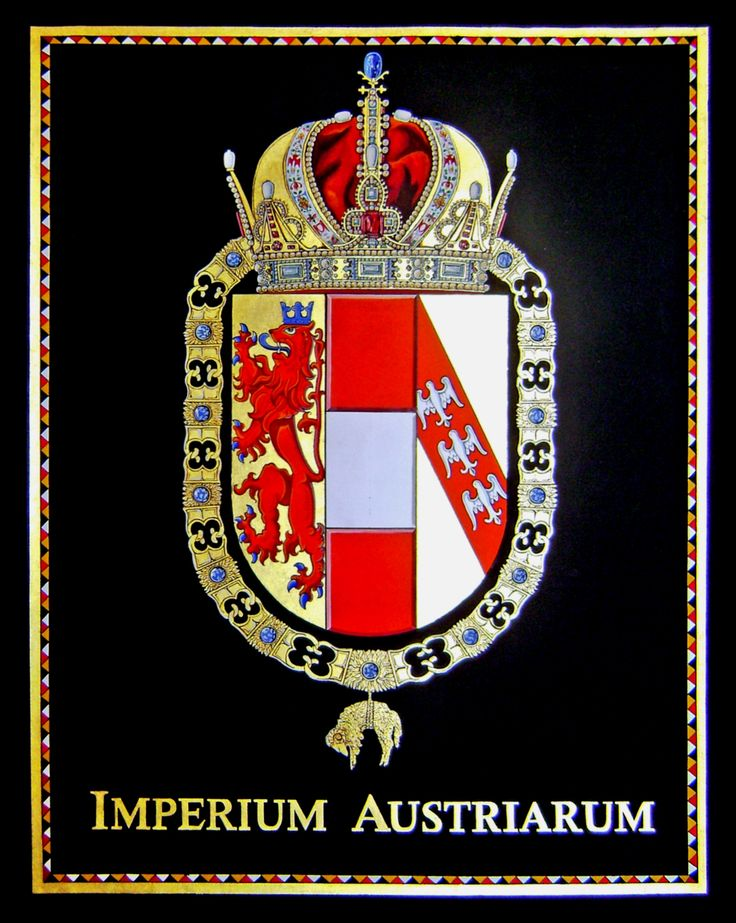 Imperium Austriarum. Gouache colors & handmade goldleaf 23 karats