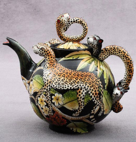 'Ardmore Ceramics (South Africa) | Leopard Teapot'