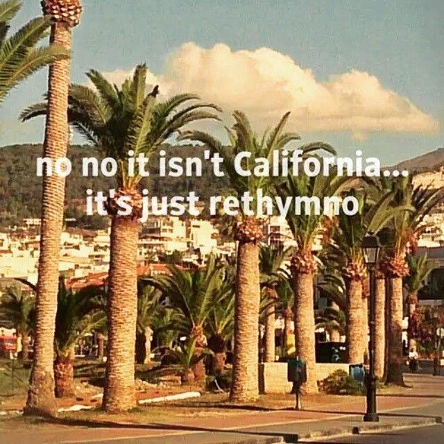 #No_no_it_isn't_California_it's_just_Rethimno #Rethimno #Crete #Palia_poli ♥♥♥✌