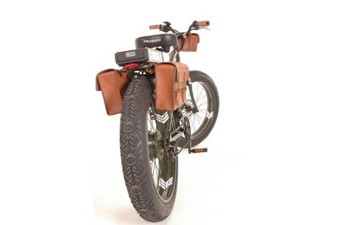 Pedego Leather Pannier Set by Savior Brand Co