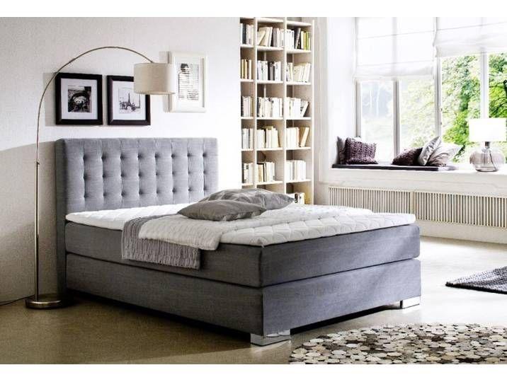 Boxspringbett Hotelbett Jordan Graphit Grau 140 X 200 Cm 7 Zonen Tonne Upholstered Platform Bed Bed Sizes Bed