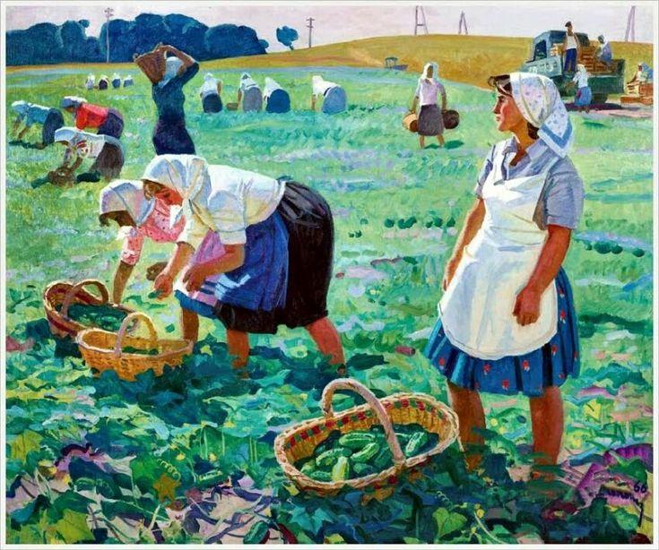 сюжетные картинки хлеборобы убирают урожай них