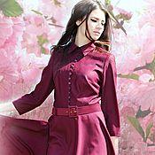"""Одежда ручной работы. Ярмарка Мастеров - ручная работа платье с пуговичками """"цветущая вишня"""". Handmade."""
