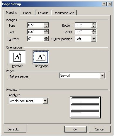 create a tri-fold brochure using Microsoft Word